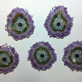 Uruguay Minerals. Marcos Lorenzelli S.R.L. Amethyst Stalactites Slices