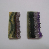 Uruguay Minerals. Marcos Lorenzelli S.R.L. Amethyst Slices for Pendants