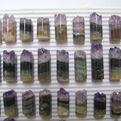 Uruguay Minerals. Marcos Lorenzelli S.R.L. Amethyst Cylinders for Pendants