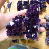 Uruguay Minerals. Marcos Lorenzelli S.R.L. Amethyst Clusters