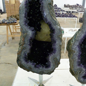 Uruguay Minerals. Marcos Lorenzelli S.R.L. Amethyst Pieces with Stands